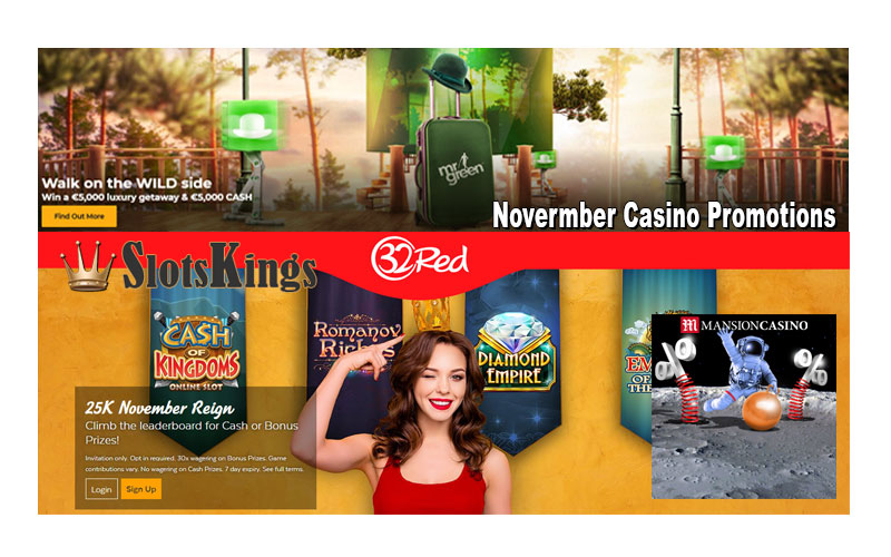November Casino Promotions